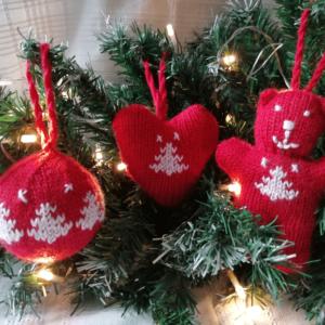 Que faire avec une pelote de laine - déco de Noel