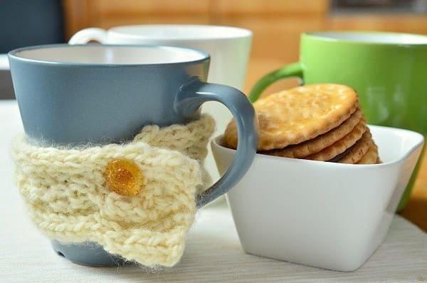 Protège mug, un modèle de tricot pour débutant