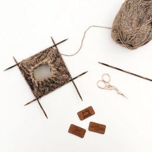 Lexique tricot - tricoter en rond avec des aiguilles doubles pointes