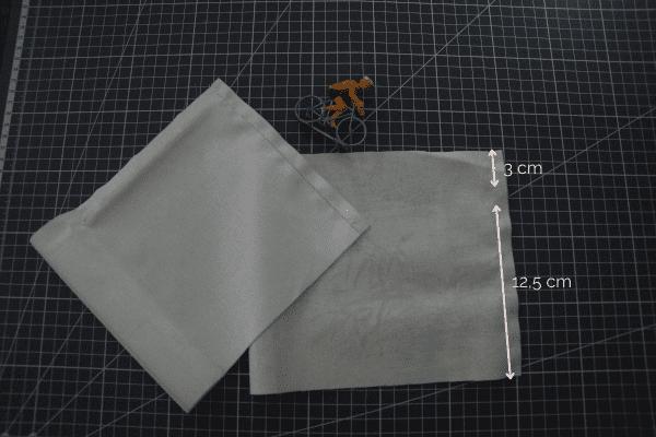 Tutoriel pochon rond - couture latérale